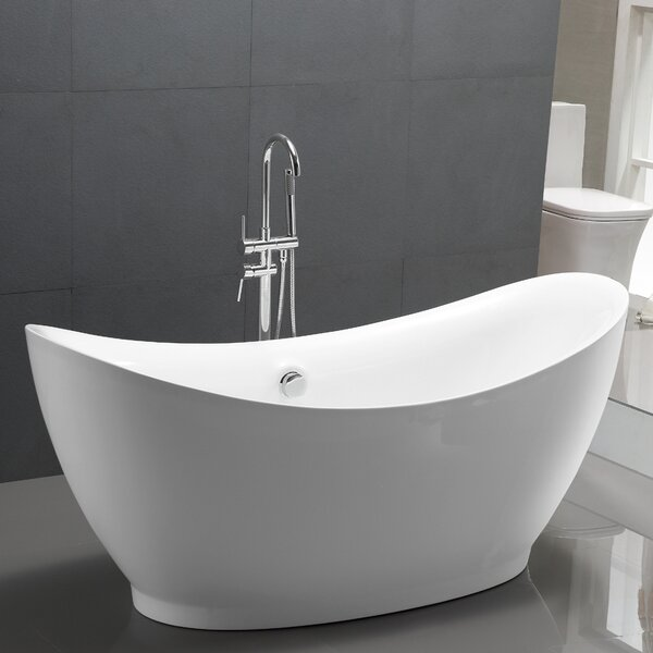 67.5 x 31.5 Freestanding Soaking Bathtub by Vanity Art