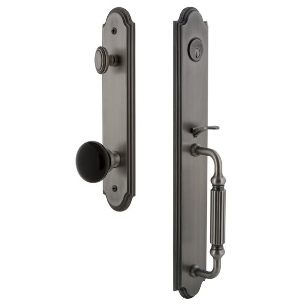 Arc Single Cylinder Handleset with F Grip and Coventry Knob by Grandeur