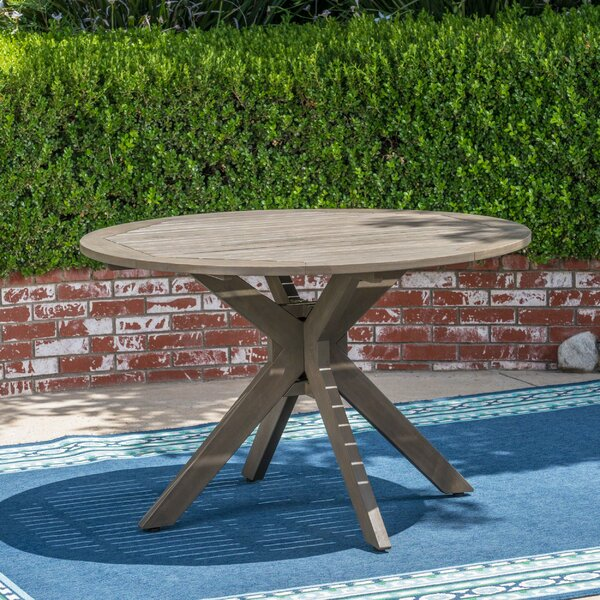 Adoxa Acacia Wood Dining Table by Union Rustic