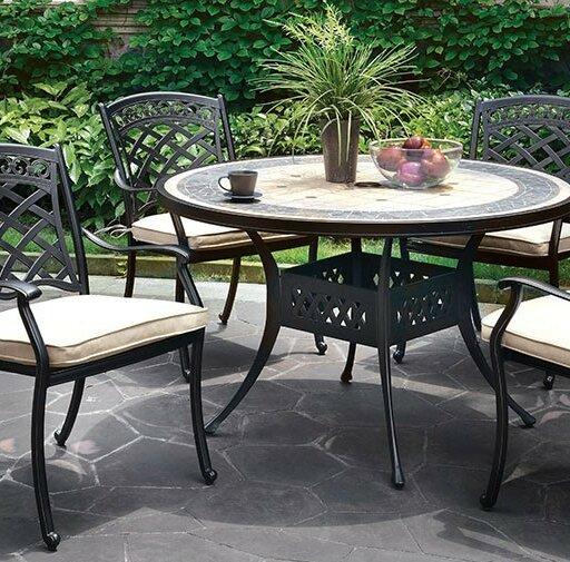 Vogt Stone/Concrete Dining Table By Fleur De Lis Living by Fleur De Lis Living Cool