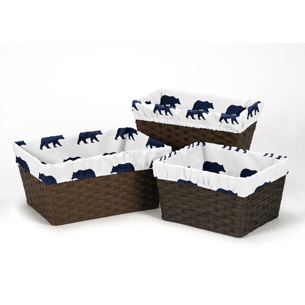 Big Bear 3 Piece Basket Liner Set by Sweet Jojo Designs