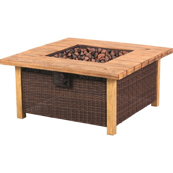 Key Largo Rattan Propane Fire Pit Table by Bond Manufacturing
