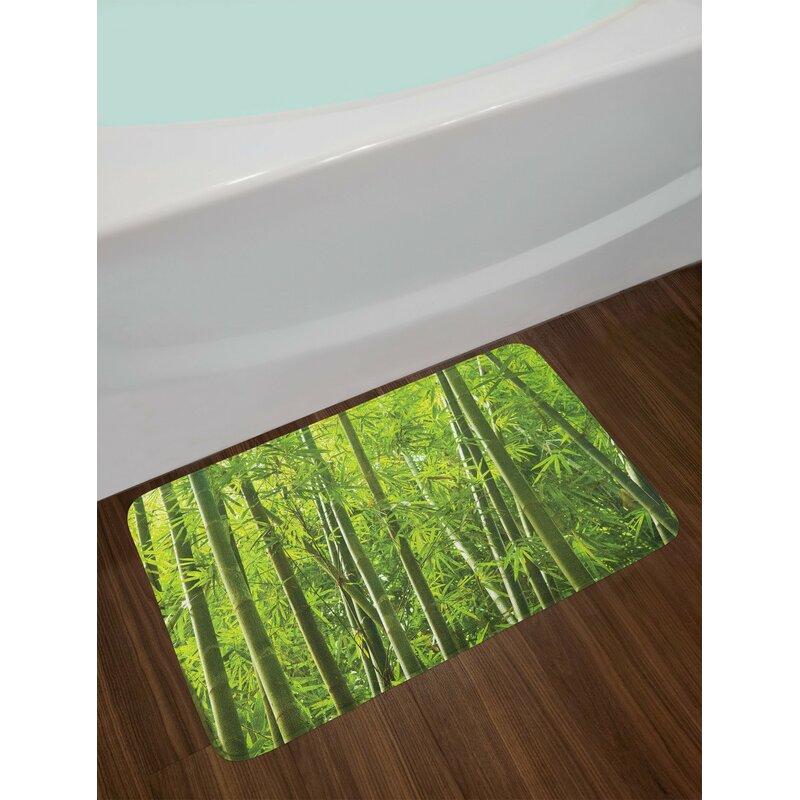 Green Bamboo Bath Rug