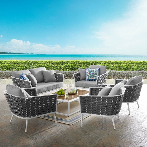 Collinsville Stance 6 Piece Sofa Seating Group with Cushions by Brayden Studio