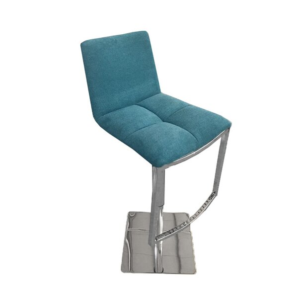 Jaycee Adjustable Height Swivel Barstool by Brayden Studio