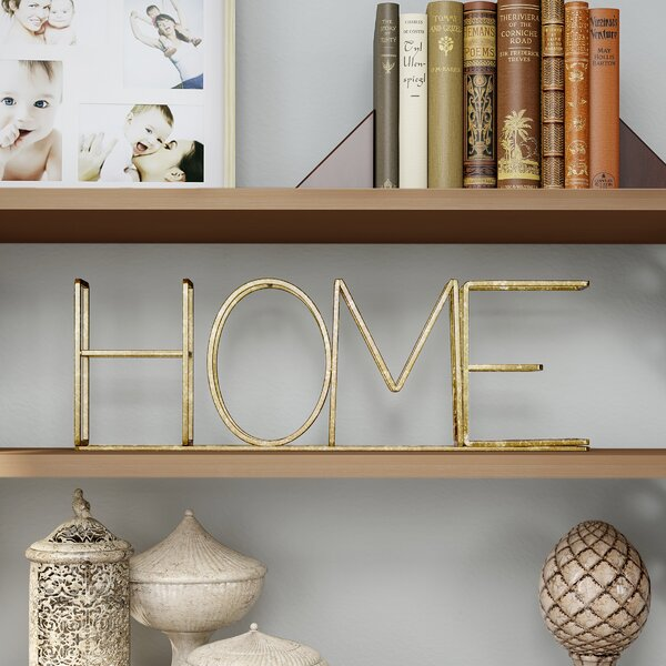 Mendota Home Free-Standing Decorative Table Top Sign by Winston Porter