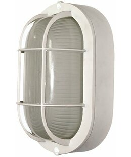 Bargain Oval 1-Light Outdoor Wall Lantern By Royal Cove