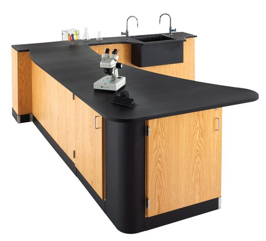 Left Side Peninsula Workstation by Diversified Woodcrafts