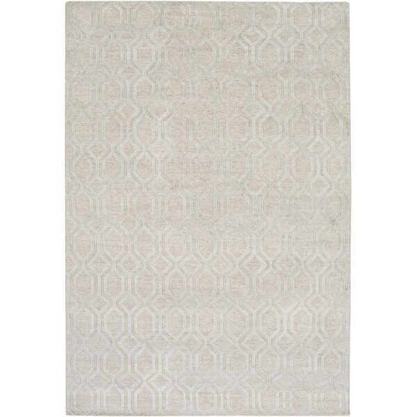 Barrville Hand-Knotted Light Gray Area Rug by Darby Home Co