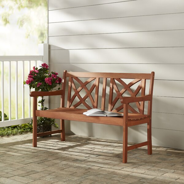 Maliyah Wooden Garden Bench By Andover Mills by Andover Mills Spacial Price