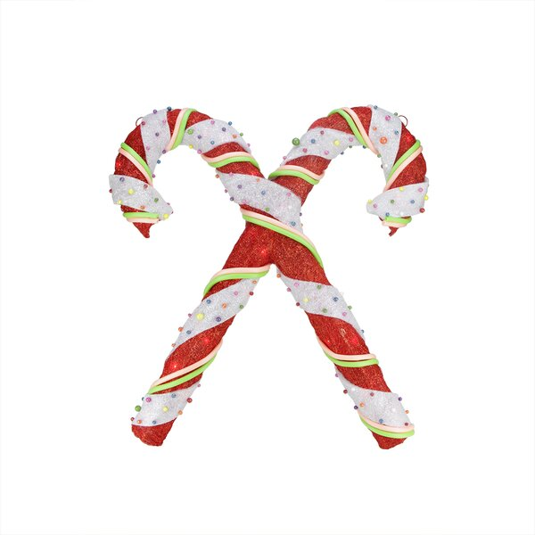 Double Candy Cane Christmas Window Decoration by Northlight Seasonal