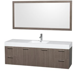 Purchase Amare 72 Single Gray Oak Bathroom Vanity Set with Mirror ByWyndham Collection