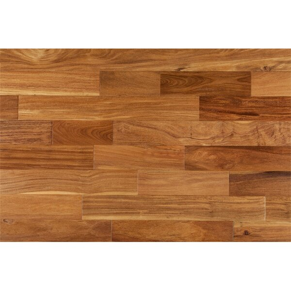 Ashton 5 Solid Teak Hardwood Flooring in Natural by Welles Hardwood