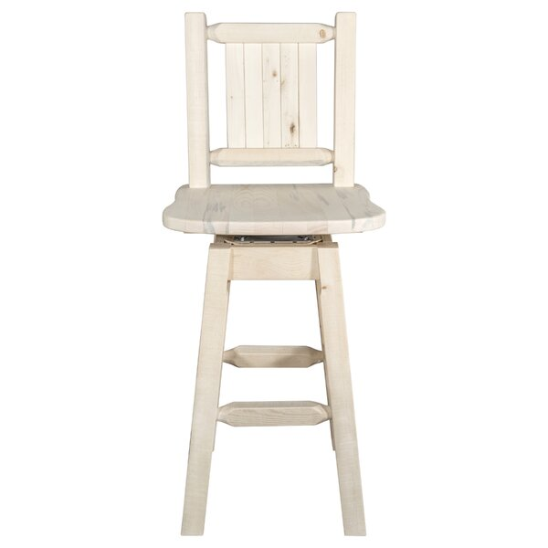 Katlyn Rustic Handcrafted 30 Swivel Barstool by Mistana