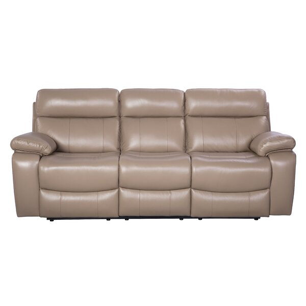 Mellor Leather Reclining Sofa by Red Barrel Studio