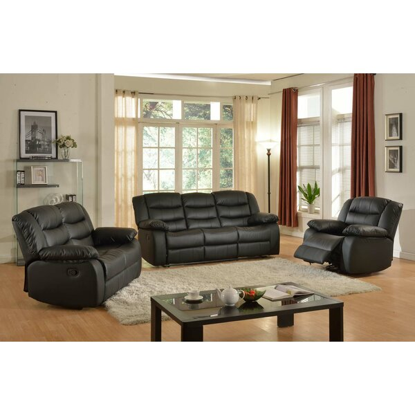 Koury Reclining 3 Piece Living Room Set