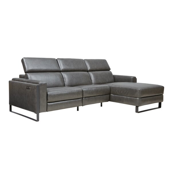 Starstruck Leather Reclining Sofa Chaise by Southern Motion