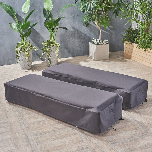Water Resistant Patio Chaise Lounge Cover (Set of 2) by Symple Stuff