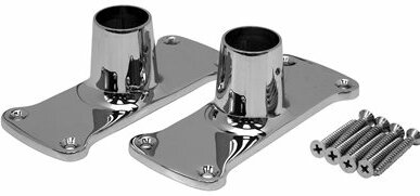 Jumbo Shower Rod Flanges by ProPlus