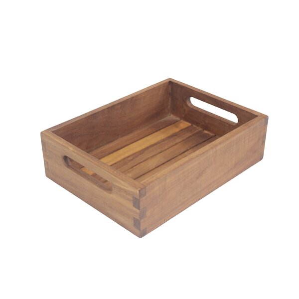 Teak Shelf Bathroom Accessory Tray by Aqua Teak