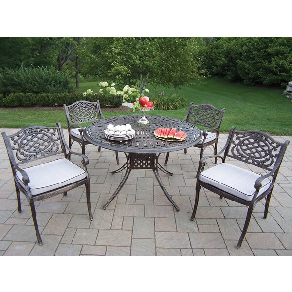 Capitol Mississippi 5 Piece Dining Set with Cushions by Oakland Living