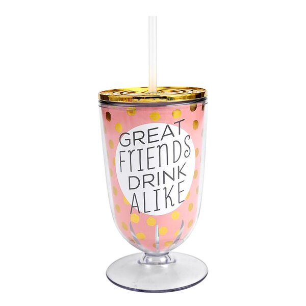Wolfgang Great Friends Drink Alike 20 oz. Plastic Travel Tumbler by Hallmark