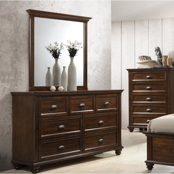 Kamarre 7 Drawer Dresser with Mirror by Darby Home Co