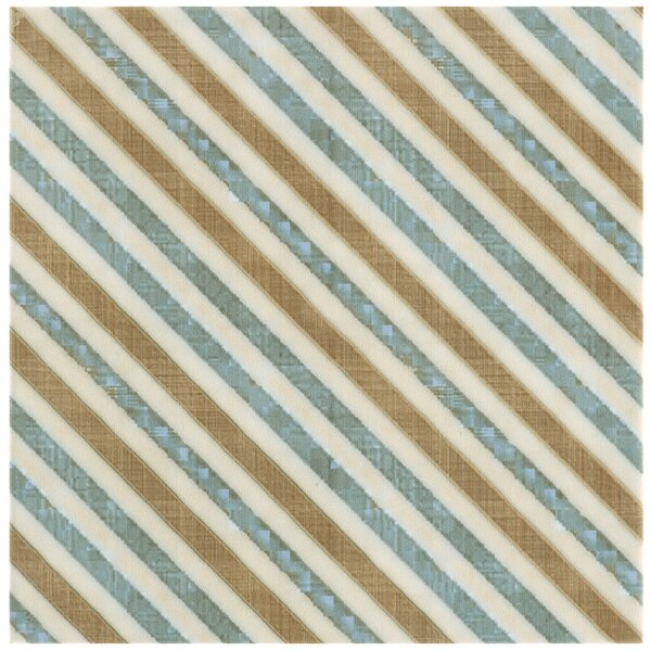Illica 7.75 x 7.75 Ceramic Field Tile in Blue/Beige by EliteTile