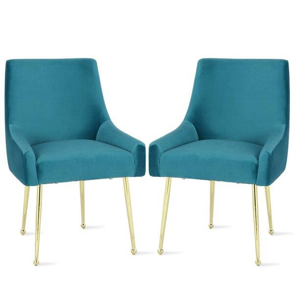 Huxley Upholstered Dining Chair (Set of 2) by Novogratz