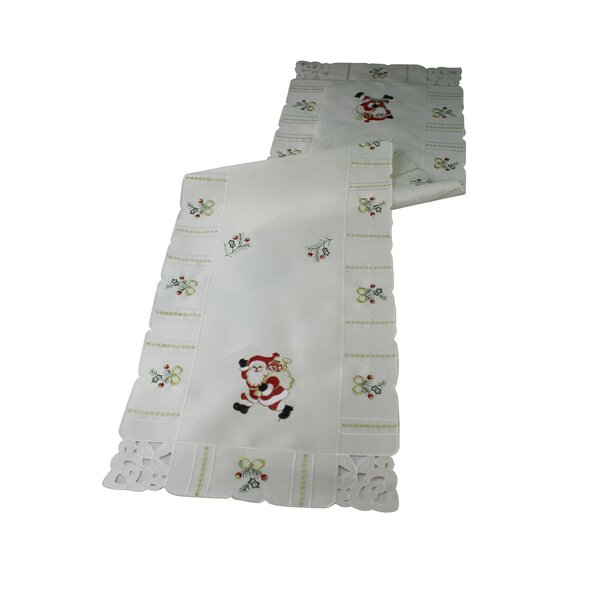 Walking Santa Table Runner by Violet Linen