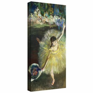 'End of an Arabesque' by Edgar Degas Painting Print on Canvas by Astoria Grand