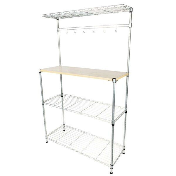 Elbridge 4 Tier Baker's Rack Microwave Cart by Rebrilliant