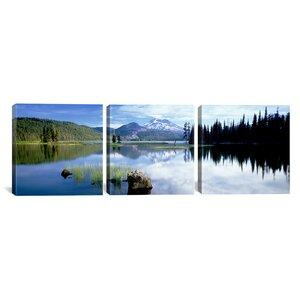 Cascade Mountains Oregon, USA 3 Piece Photographic Print on Wrapped Canvas Set by Latitude Run