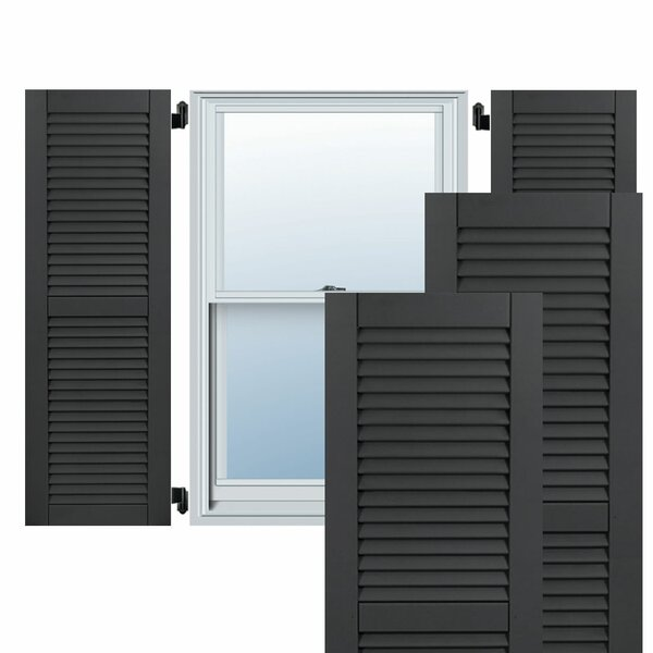 Exterior Composite Wood Louvered Shutter (Set of 2) by Ekena Millwork