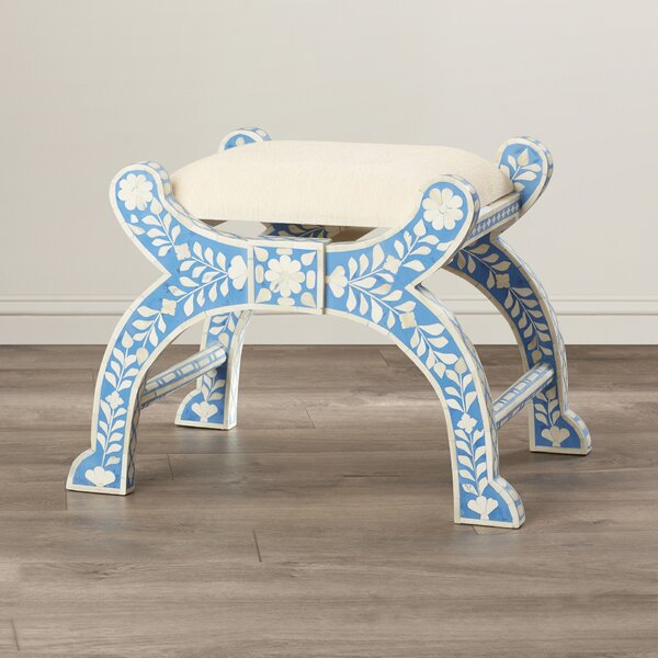 Irvington Inlay Accent Stool by Bungalow Rose