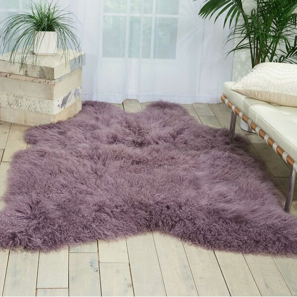 Christine Sheepskin Lavender Area Rug by Viv + Rae