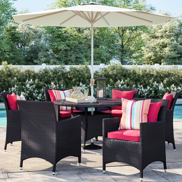 Brentwood 7 Piece Outdoor Patio Dining Set with Cushions by Sol 72 Outdoor