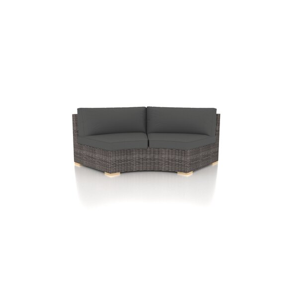 Holcomb Curve Loveseat with Sunbrella Cushions by Rosecliff Heights