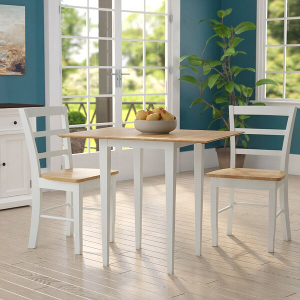 Colyer 3 Piece Counter Height Extendable Solid Wood Dining Set by Winston Porter Winston Porter