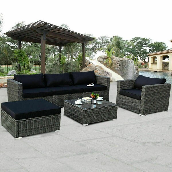 Palumbo 6 Piece Rattan Sofa Seating Group with Cushions by Highland Dunes