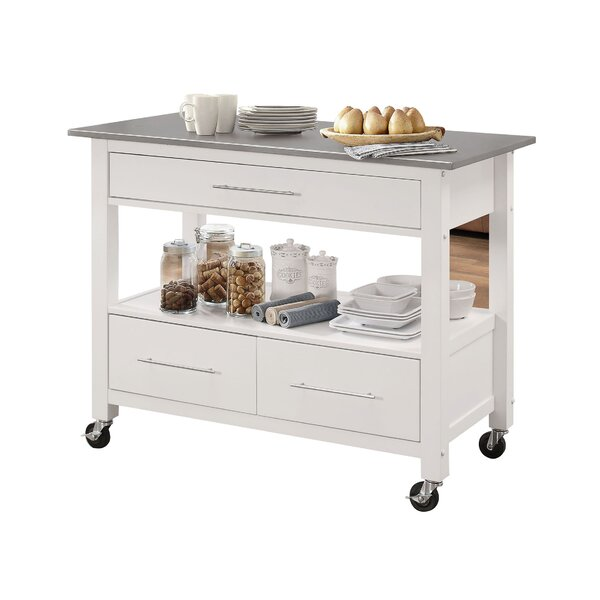 Guillot Kitchen Cart with Stainless Steel Top by Ebern Designs