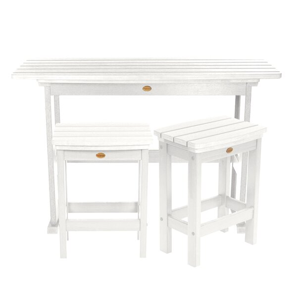 Amelia Balcony 3 Piece Pub Table Set by Three Posts