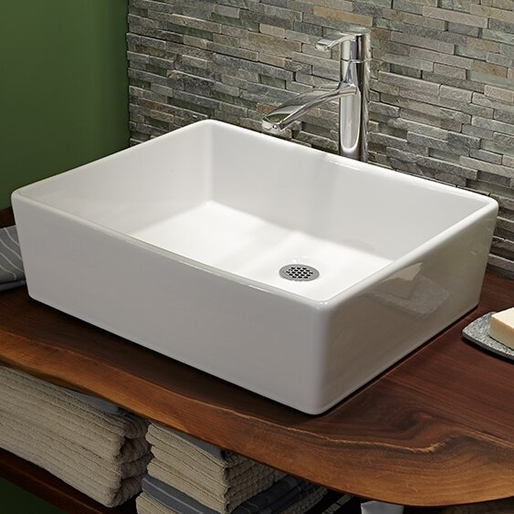 Loft Rectangular Vessel Bathroom Sink by American