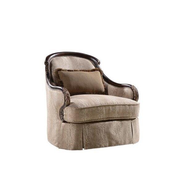 Izaak Swivel Armchair by Astoria Grand