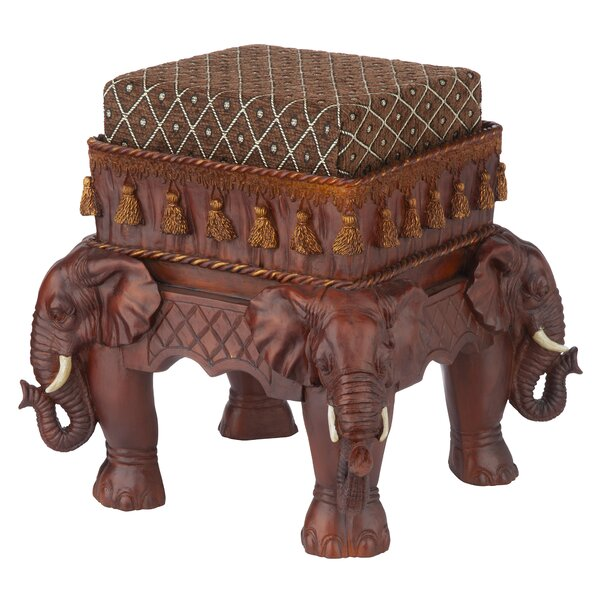 The Maharajah's Elephants Ottoman by Design Toscano