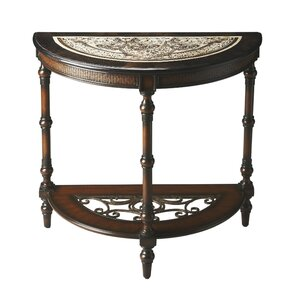 Metalworks Demilune Console Table by Butler
