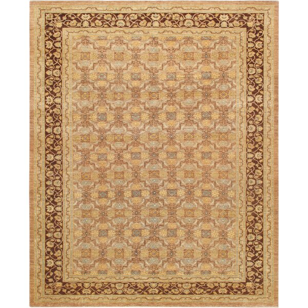 Ferehan Hand-Knotted Wool Brown Area Rug