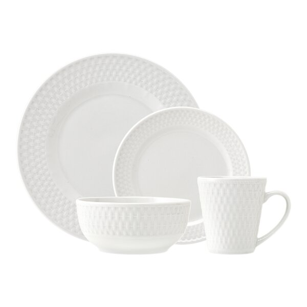 Avea 16 Piece Dinnerware Set, Service for 4 by Godinger Silver Art Co