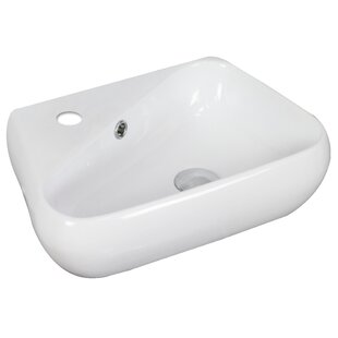 Budget Specialty Ceramic Specialty Vessel Bathroom Sink with Overflow By American Imaginations