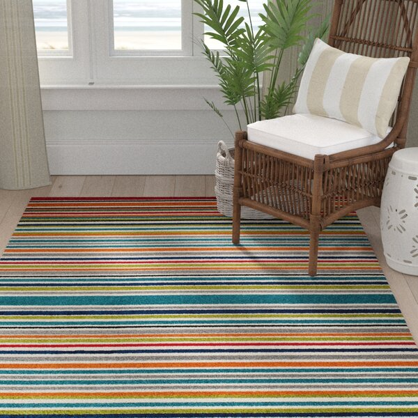 Strathaven Turquoise Indoor/Outdoor Area Rug By Bay Isle Home